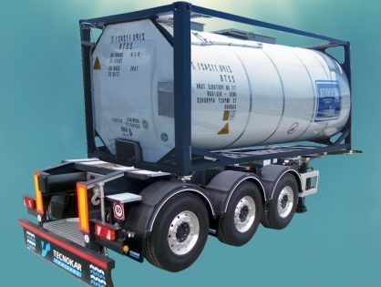 Container transport vehicles for Tank Containers