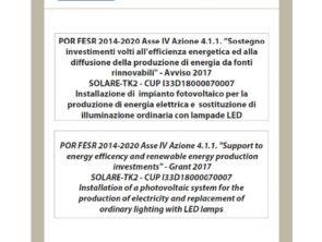 POR FESR 2014-2020 Asse IV Azione 4.1.1